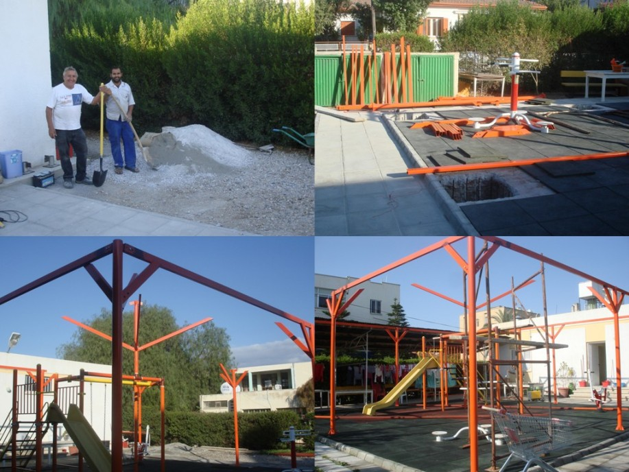 Construction of Covered Play Area at Children's Home