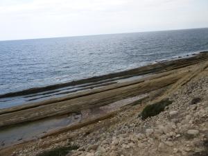 Rock strata at Macaria